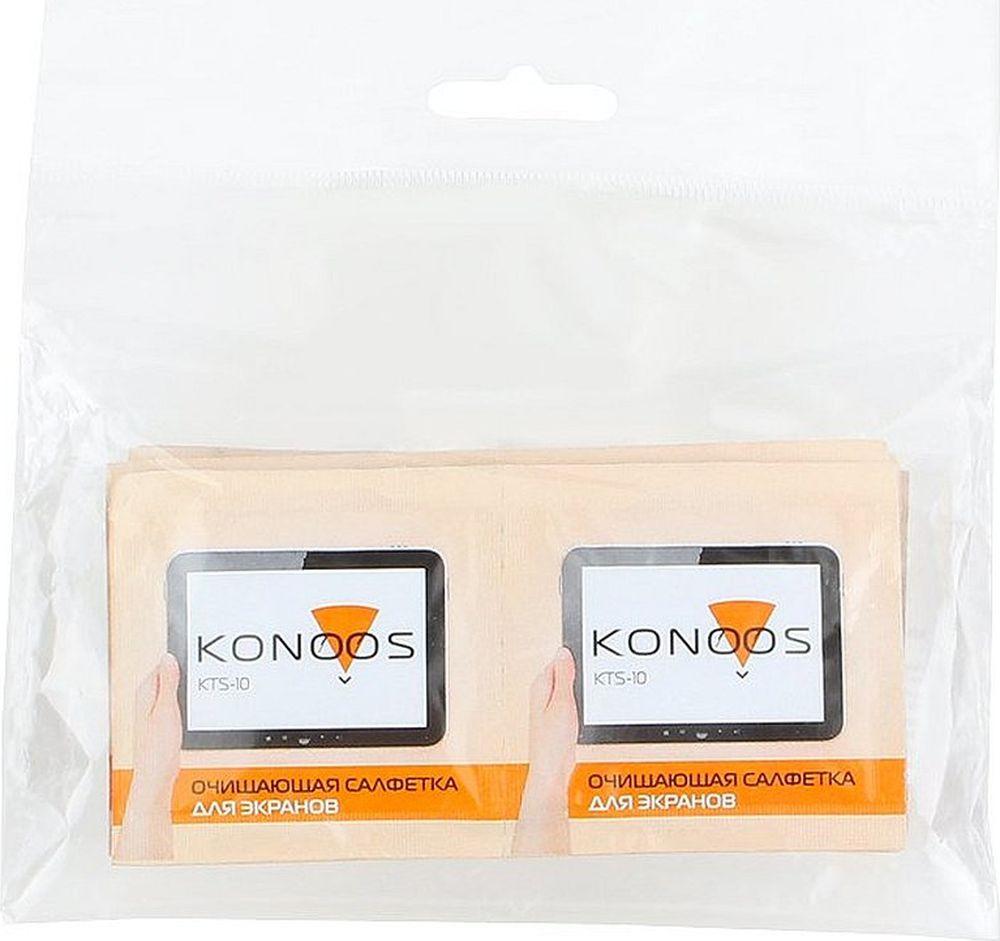 Салфетки для электроники Konoos KTS-10, для ЖК-экранов, 10 шт Konoos