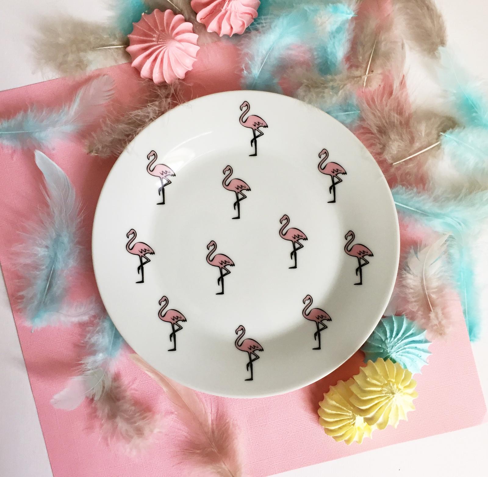 Тарелка Сотвори Чудо Розовый фламинго 20 см, белый тарелка мелкая сотвори чудо розовый фламинго диаметр 20 см