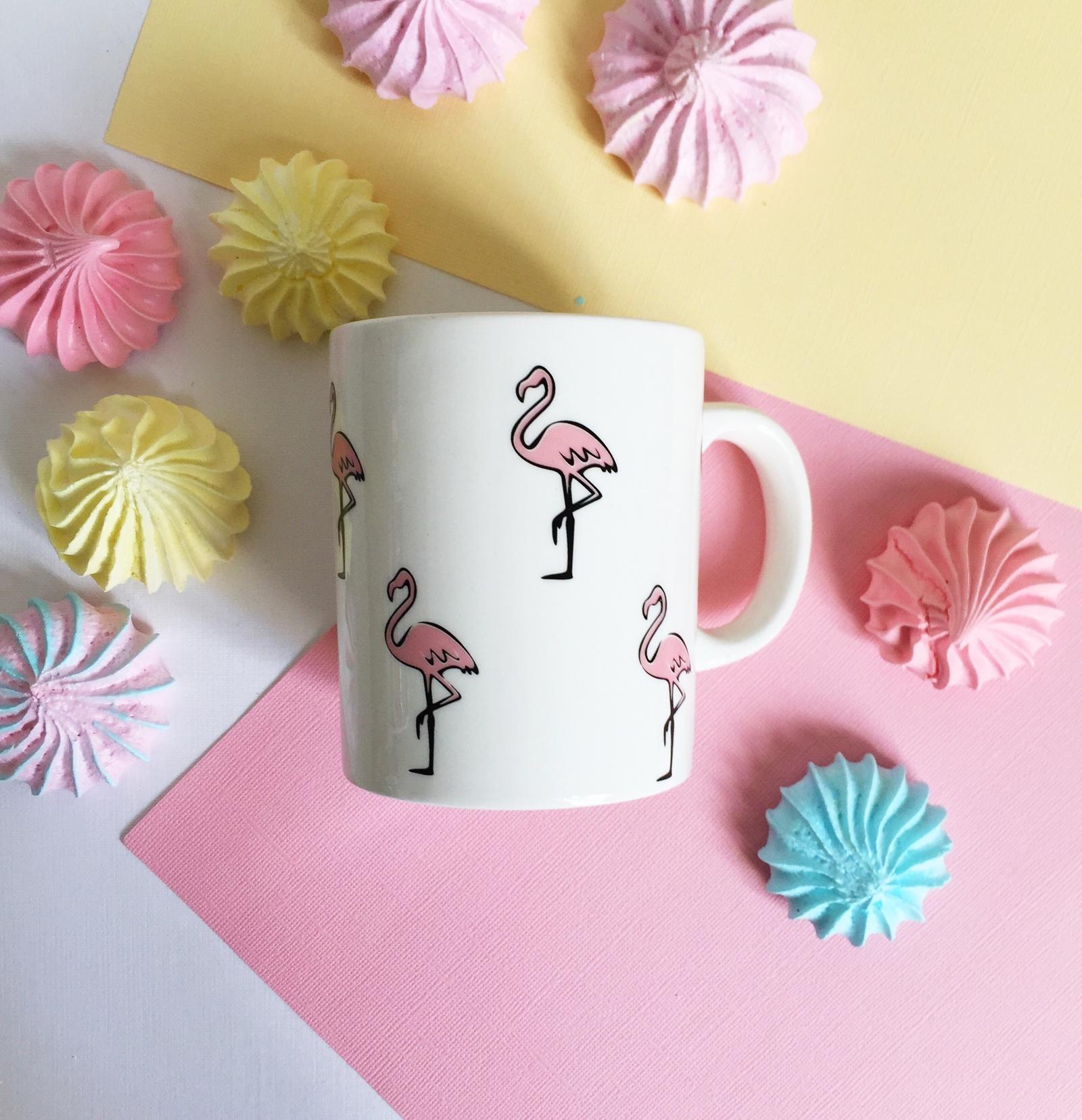 Кружка Сотвори Чудо Розовый фламинго 300 мл, белый тарелка мелкая сотвори чудо розовый фламинго диаметр 20 см