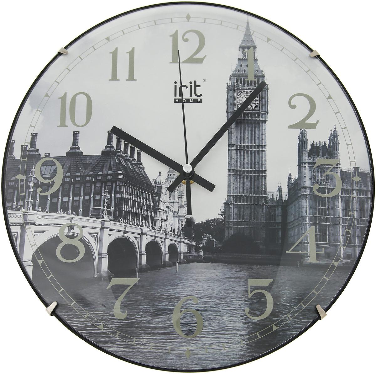 "Настенные часы Irit IR-649 ""Англия"", кварцевые, диаметр 30 см"