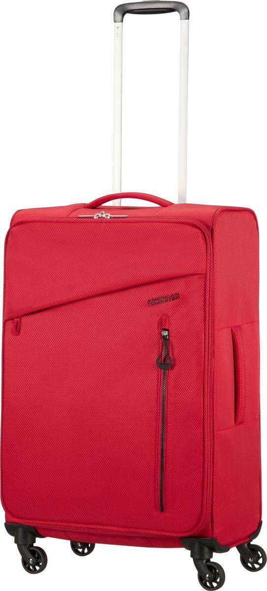 Чемодан American Tourister Litewing, четырехколесный, 38G-00002, красный, 41 л цена и фото