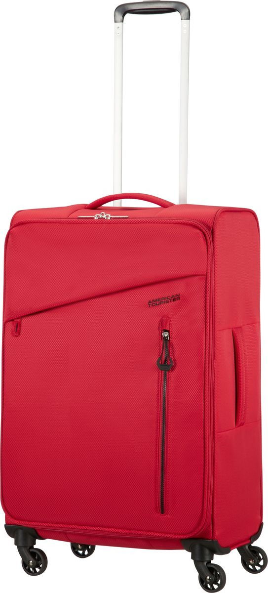 Чемодан American Tourister Litewing, четырехколесный, 38G-00004, красный, 67 л чемодан american tourister wavebreaker sunny yellow 67 см 4 колеса