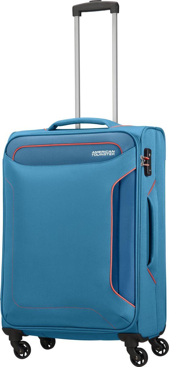 Чемодан American Tourister Holiday Heat, четырехколесный, 50G-01004, темно-синий, 38 л цена и фото