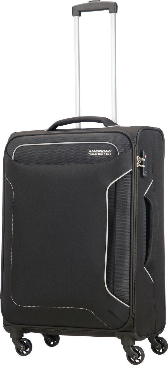 Чемодан American Tourister Holiday Heat, четырехколесный, 50G-09004, черный, 38 л afusa 50g
