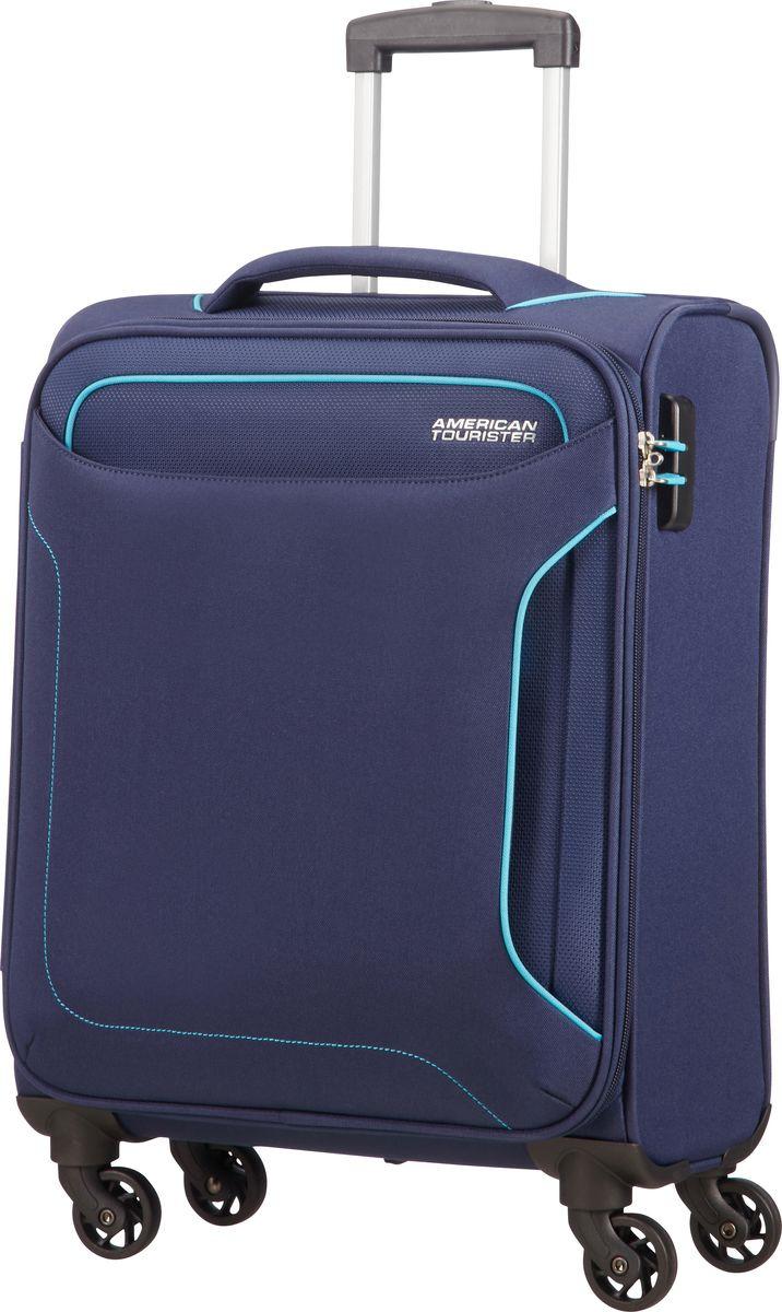 Чемодан American Tourister Holiday Heat, четырехколесный, 50G-41004, темно-синий, 38 л afusa 50g