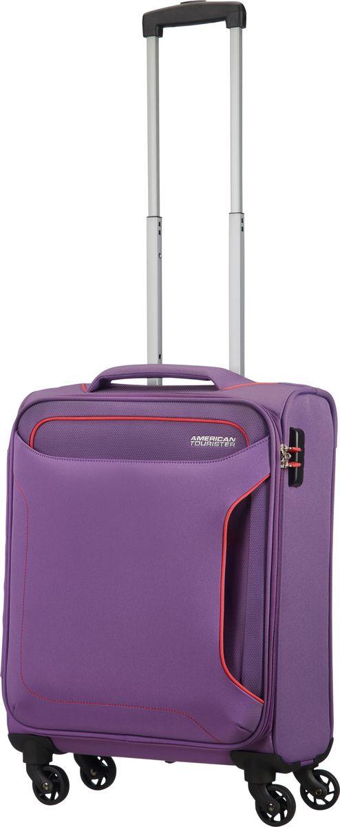 Чемодан American Tourister Holiday Heat, четырехколесный, 50G-91005, фиолетовый, 66 л afusa 50g
