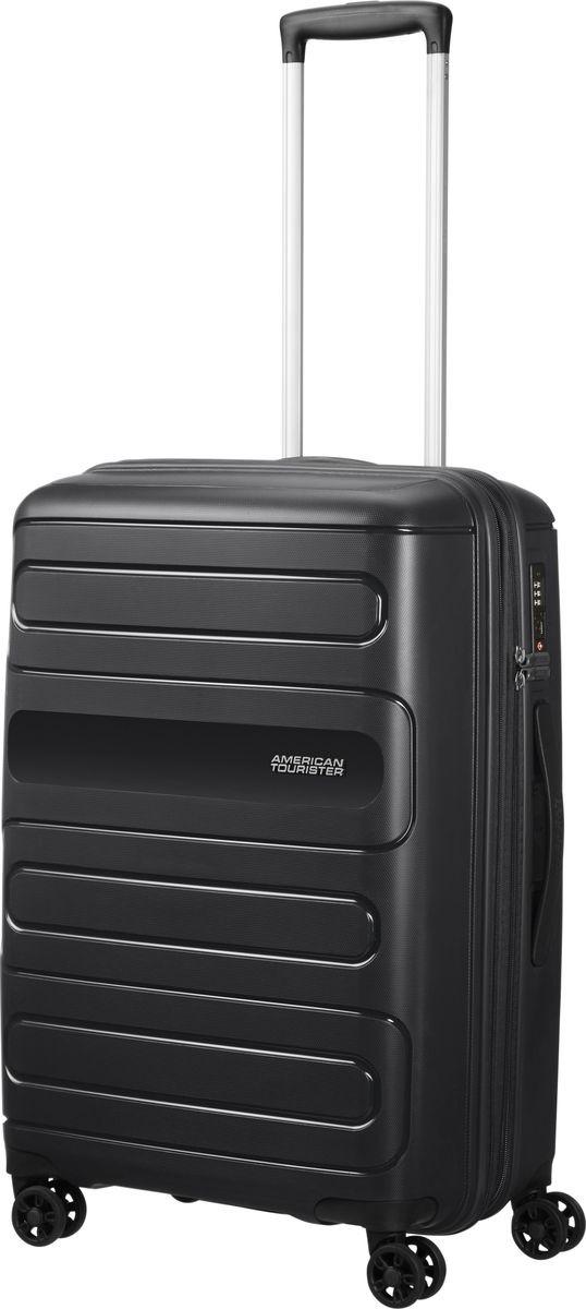 Чемодан American Tourister Sunside, четырехколесный, 51G-09001, черный, 35 л чемодан american tourister sunside четырехколесный 51g 09001 черный 35 л