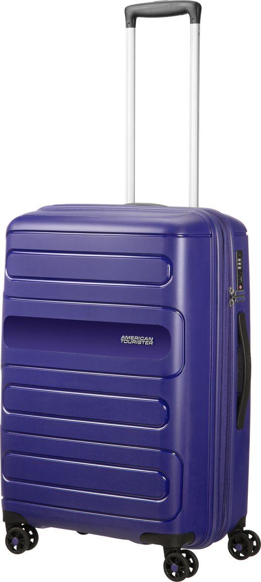 Чемодан American Tourister Sunside, четырехколесный, 51G-41002, темно-синий, 72,5 л чемодан american tourister sunside четырехколесный 51g 09001 черный 35 л