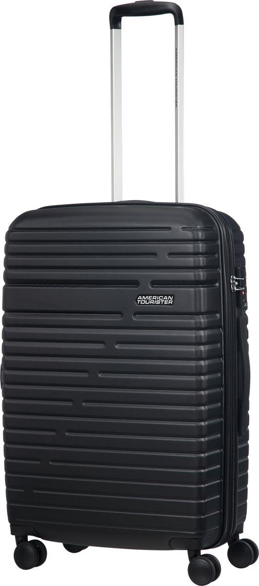 Чемодан American Tourister Aero Racer, четырехколесный, 61G-09001, черный, 37 л чемодан american tourister aero racer четырехколесный 61g 09002 черный 66 5 л