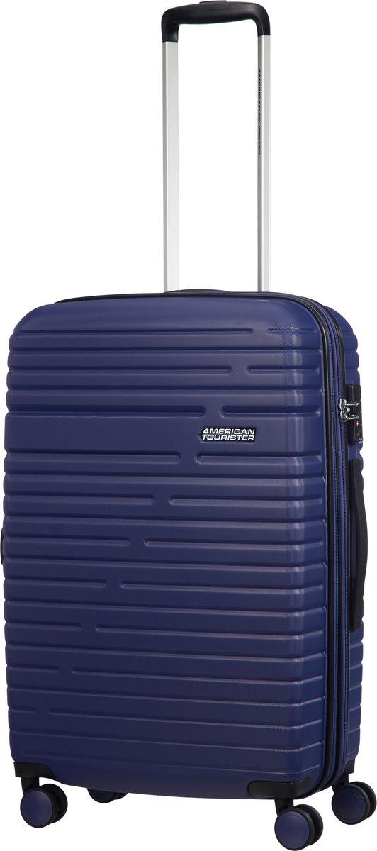 Чемодан American Tourister Aero Racer, четырехколесный, 61G-21001, синий, 37 л чемодан american tourister aero racer четырехколесный 61g 09002 черный 66 5 л