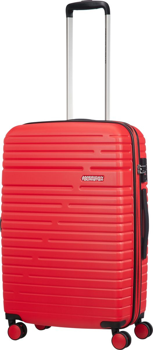 Чемодан American Tourister Aero Racer, четырехколесный, 61G-50002, красный, 66,5 л чемодан american tourister aero racer четырехколесный 61g 09002 черный 66 5 л
