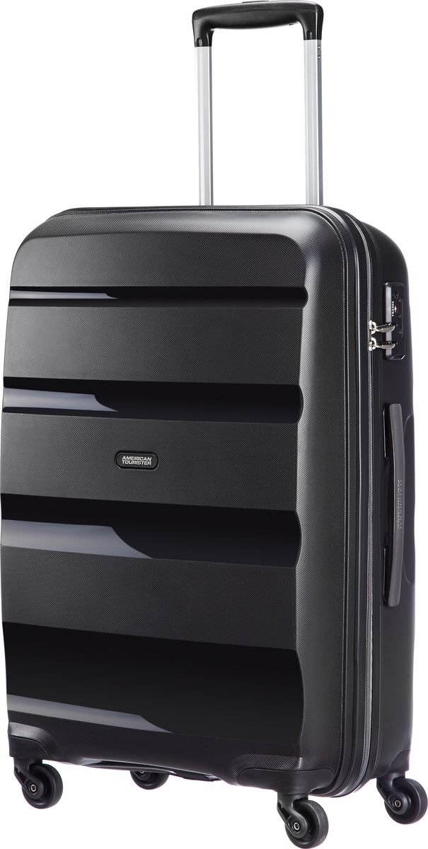 Чемодан American Tourister Bon Air, четырехколесный, 85A-09002, черный, 57,5 л цены