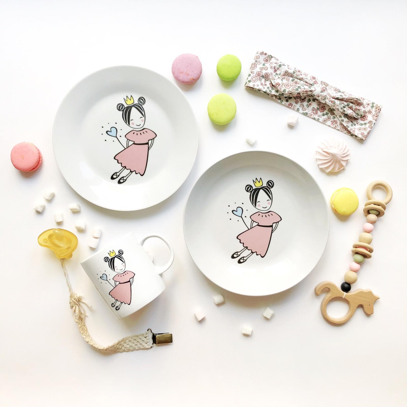 Набор посуды Маленькая королева (3 в 1: кружка+тарелка+глубокая тарелка Sans Brides)