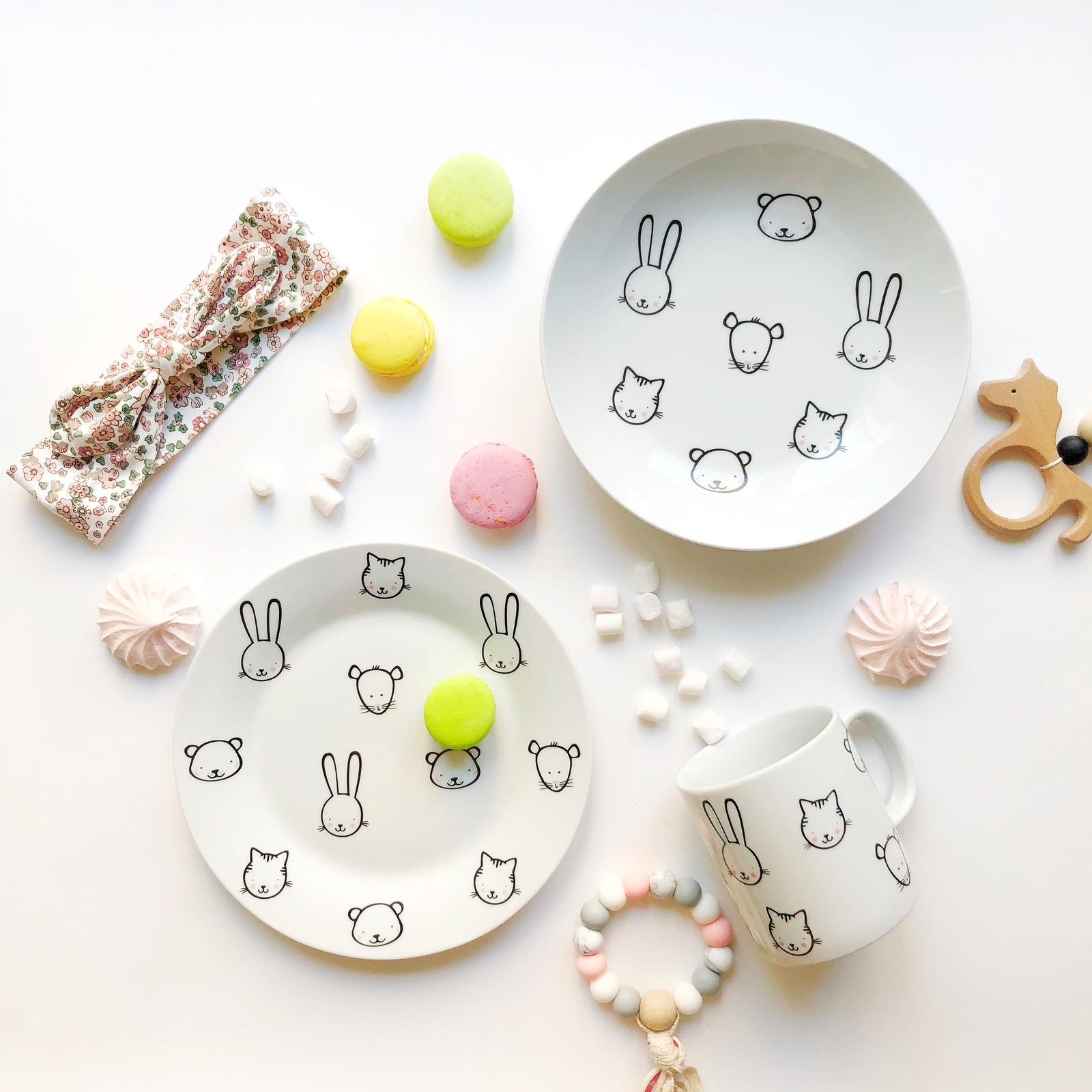 Набор посуды Ферма (3 в 1: кружка+тарелка+глубокая тарелка Sans Brides)
