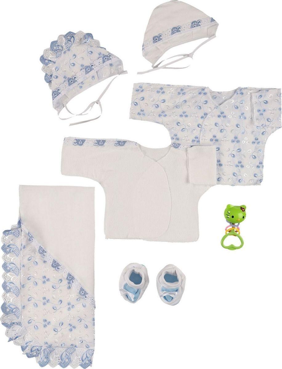 Комплект на выписку Грачонок комплект для крещения детский трон плюс рубашка чепчик пеленка цвет белый 1417 размер 62 3 месяца