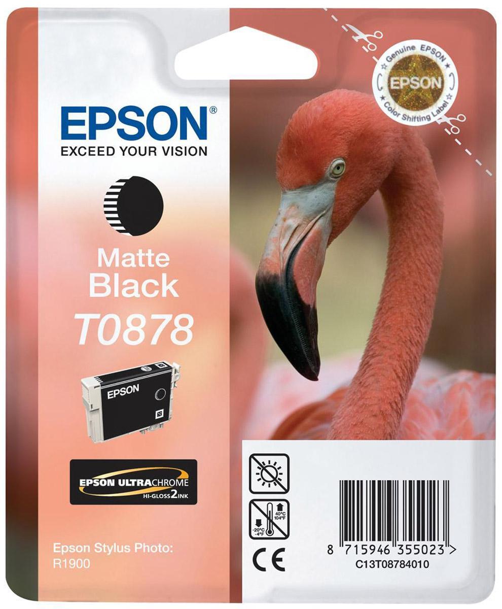 Картридж Epson T0878 для Stylus Photo R1900, C13T08784010, Matte Black цены