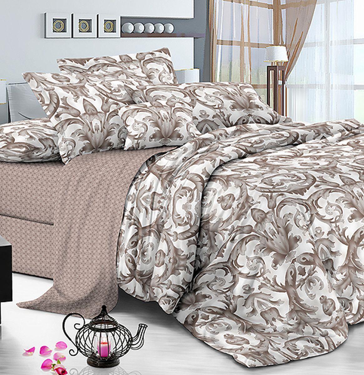 Комплект белья Amore Mio Gold Lina, 7551, бежевый, 1,5-спальный, наволочки 70x70