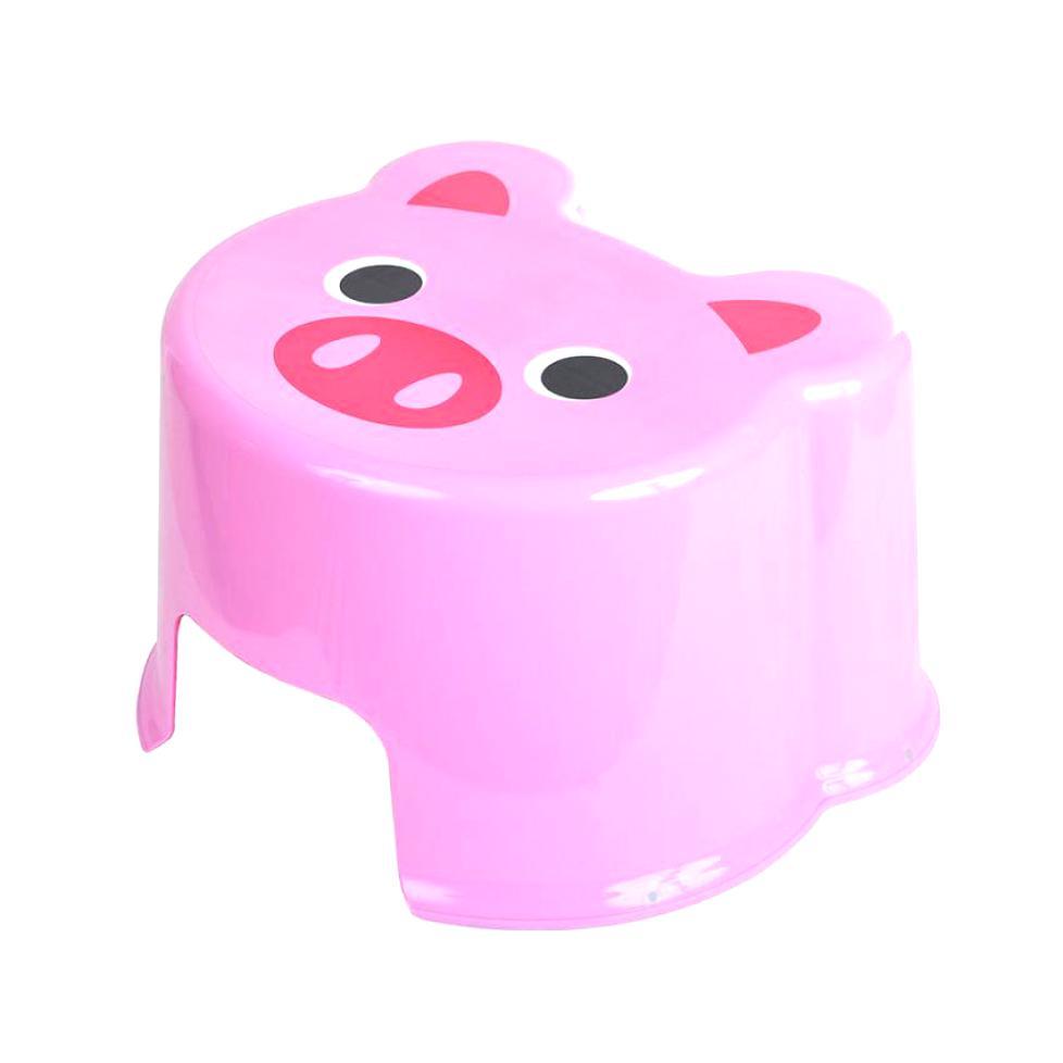 """Стульчик-подставка Полимербыт Свинка """"ZOO"""", 525/розовый, розовый"""