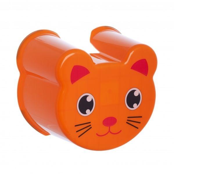 Стульчик-подставка Полимербыт Котик ZOO, 525/оранжевый, оранжевый набор для пикника полимербыт 4380960 4380960 оранжевый