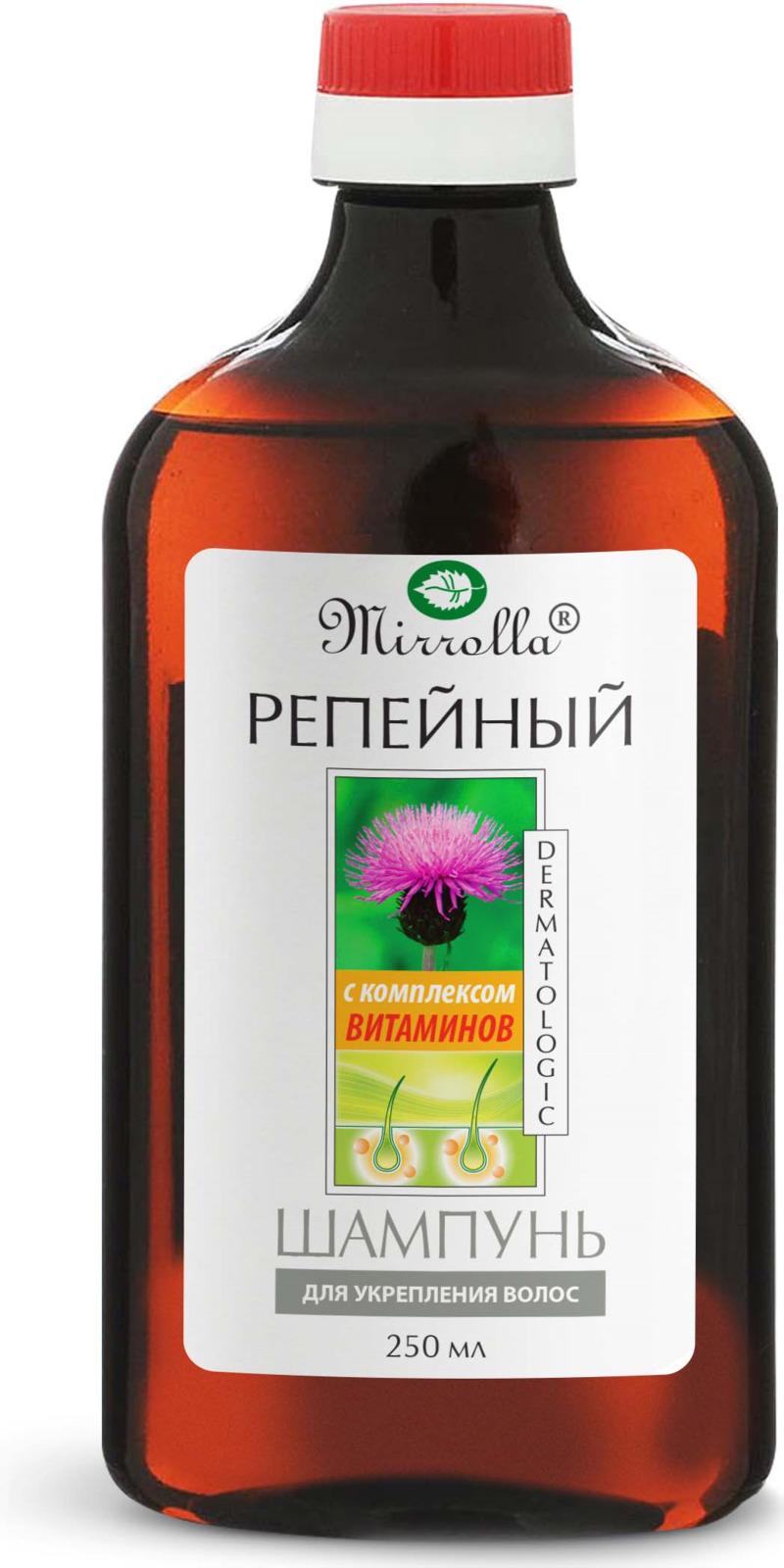 Мирролла Шампунь репейный с комплексом витаминов для укрепления волос 250 мл