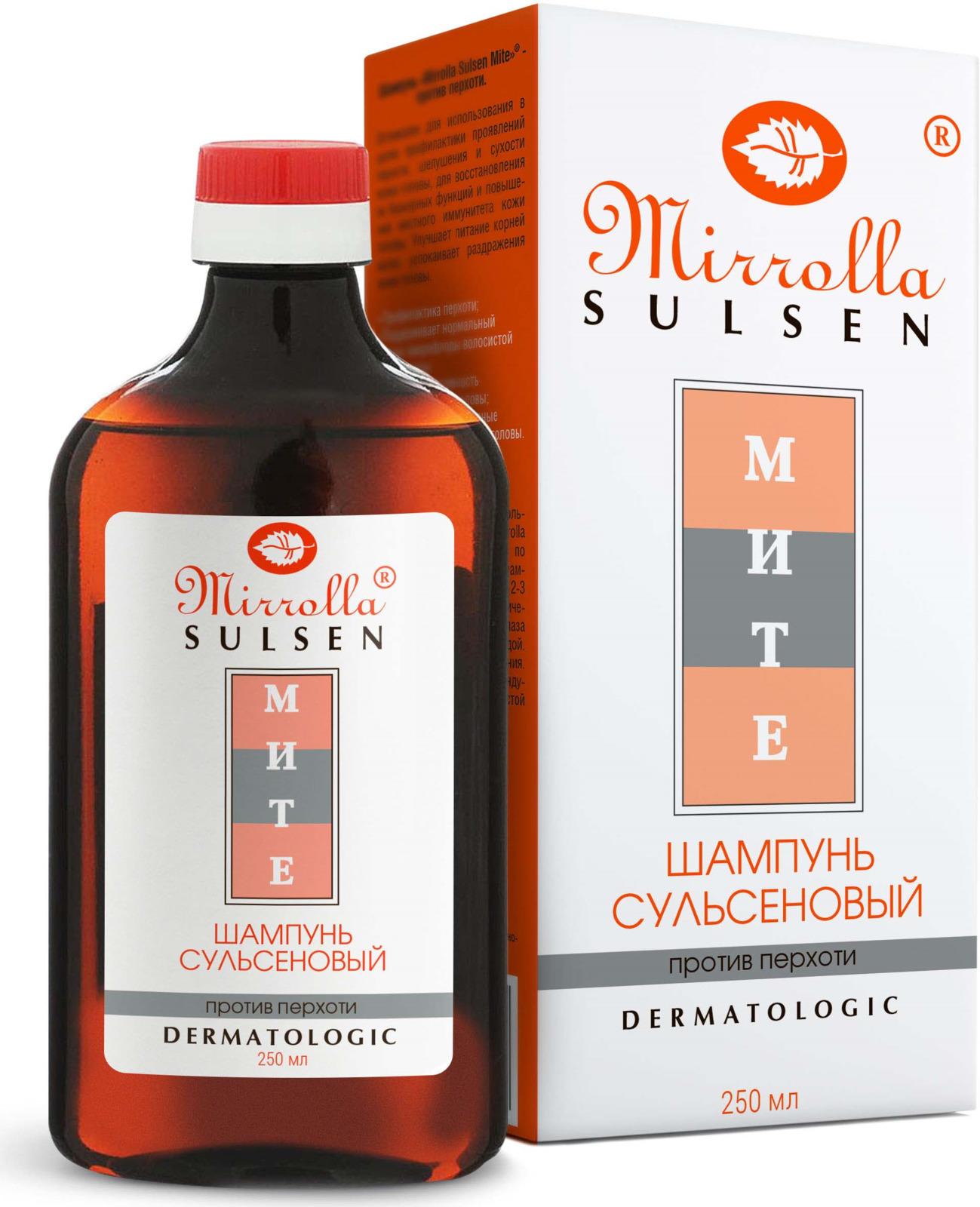 Мирролла Шампунь для волос «Сульсен Мите», для профилактики перхоти, 250 мл мирролла сульсен форте шампунь с климбазолом против перхоти 250мл