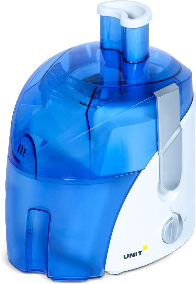 Соковыжималка Unit UCJ-416, CE-0363908, белый, голубой соковыжималка unit ucj 419 серебристый ce 0360065