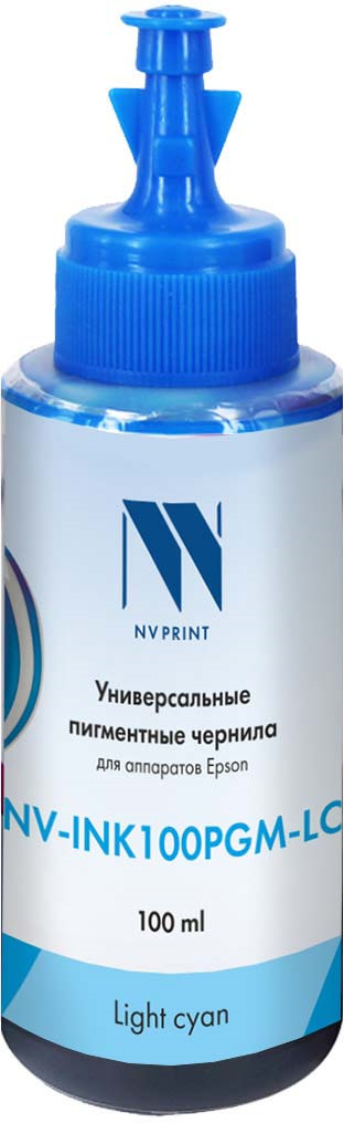 Чернила универсальные NV Print NV-INK100PGM, для Epson, light cyan майка print bar child of light