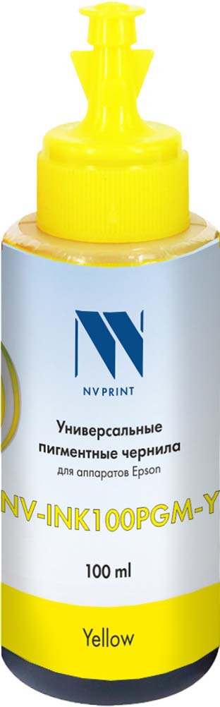 Чернила универсальные NV Print NV-INK100PGM, для Epson, yellow sexy scoop neck random letter print cami top in yellow