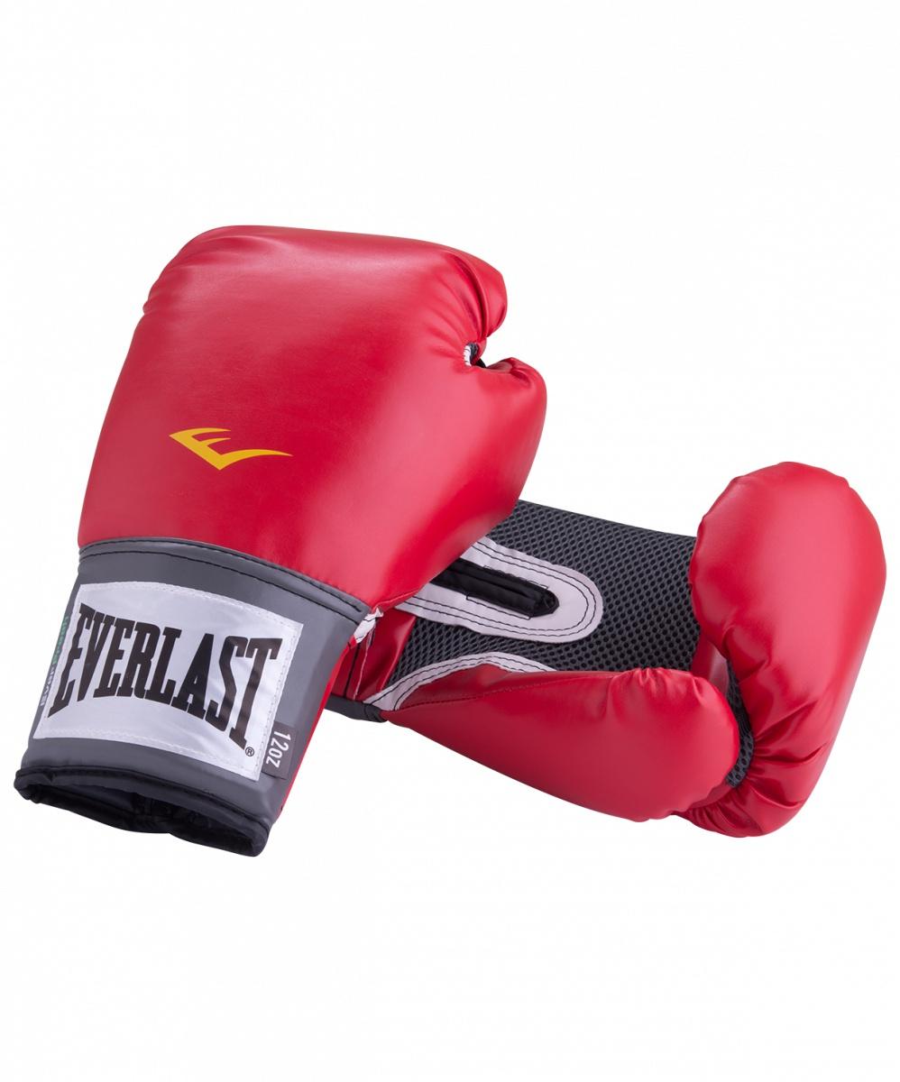 Перчатки боксерские Everlast Pro Style Anti-MB 2114U, 14oz, к/з, красный перчатки боксерские everlast pro style elite 2112e цвет красный 12 oz