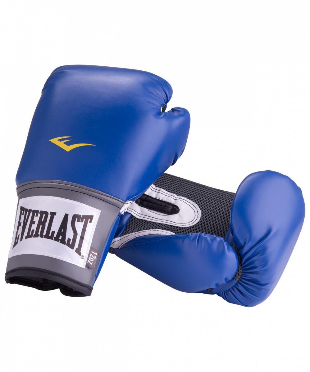 цена на Перчатки боксерские Everlast Pro Style Anti-MB 2214U, 14oz, к/з, синий
