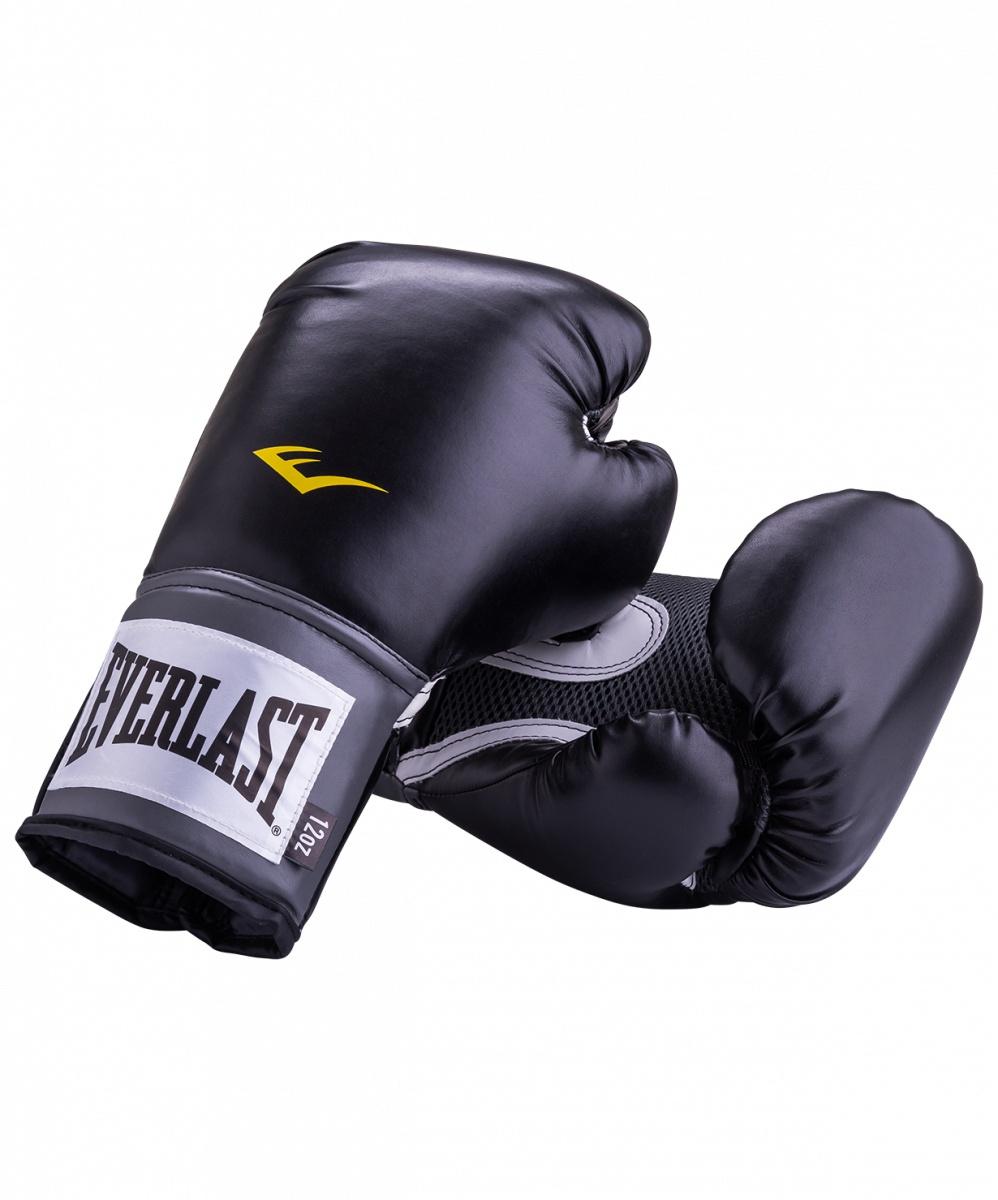 цена на Перчатки боксерские Everlast Pro Style Anti-MB 2312U, 12oz, к/з, черный