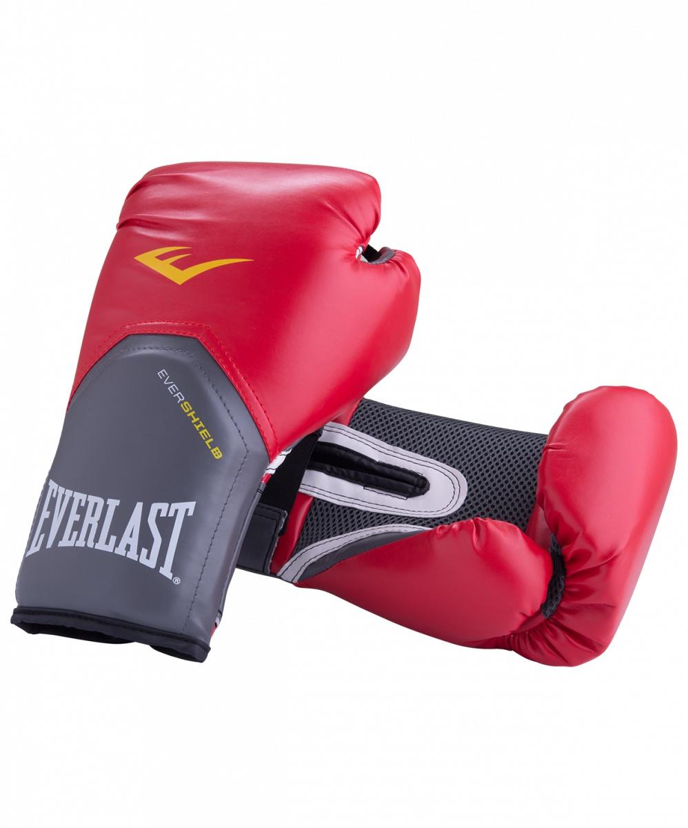 Перчатки боксерские Everlast Pro Style Elite 2114E, 14oz, к/з, красный перчатки боксерские everlast pro style elite 2112e цвет красный 12 oz