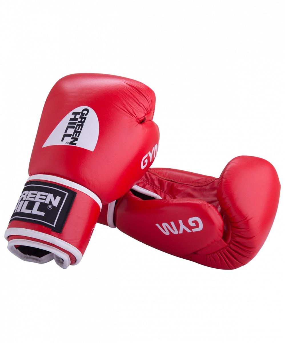 Перчатки боксерские Green Hill GYM BGG-2018, 14oz, кожа, красный перчатки боксерские green hill force цвет красный белый вес 10 унций bgf 1215
