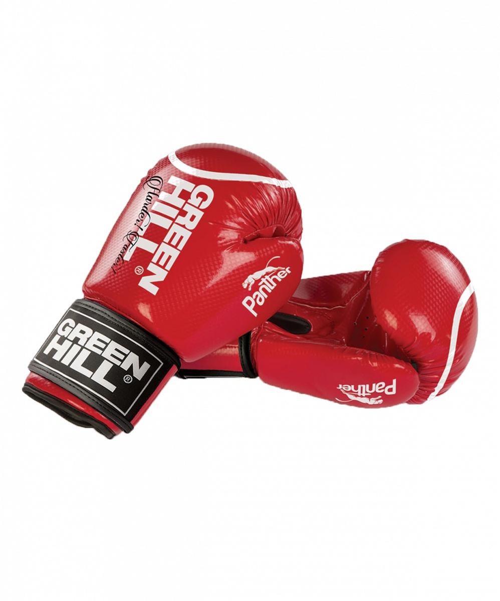 Перчатки боксерские Green Hill Panther BGP-2098, 10 oz, к/з, красный цена