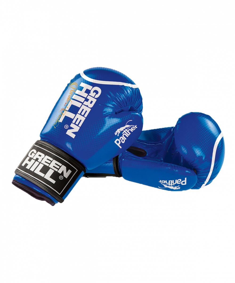 Перчатки боксерские Green Hill Panther BGP-2098, 10 oz, к/з, синий цена