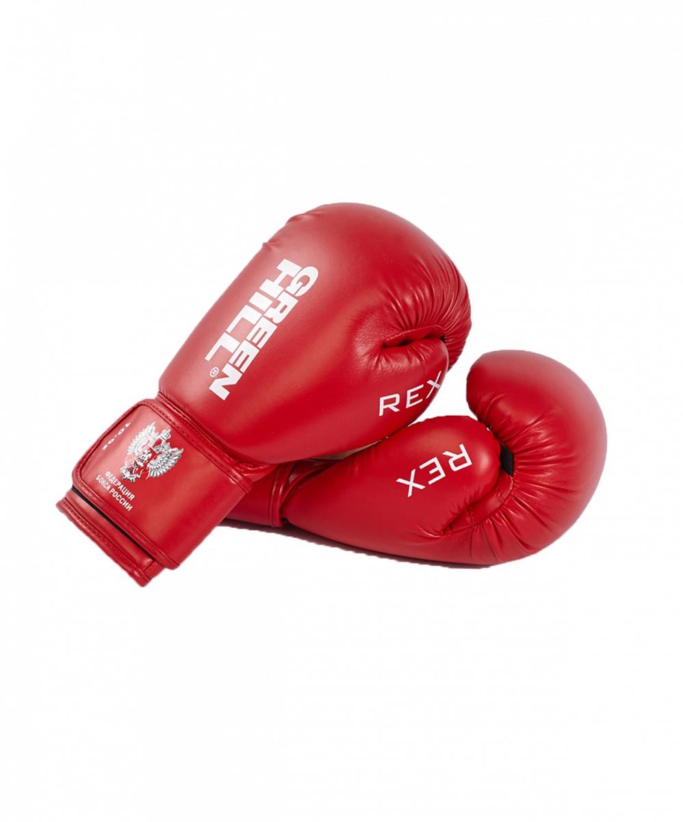 Перчатки боксерские Green Hill REX BGR-2272, 10 oz, к/з, красный перчатки боксерские green hill force цвет красный белый вес 10 унций bgf 1215