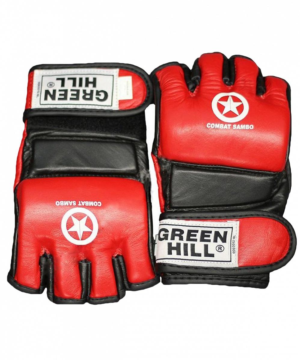 Перчатки для единоборств Green Hill COMBAT SAMBO MMR-0027CS, 0635409669703, размер M, красный