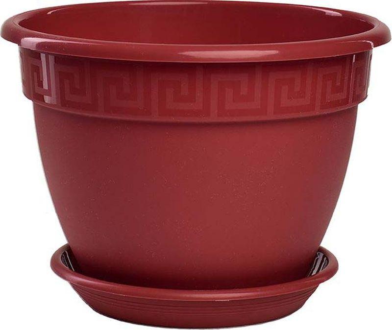 Горшок 5Plast Антик с поддоном, 5PL0020, бордо, диаметр 22 см5PL0020Кашпо предназначенное для посадки декоративных растений, станет прекрасным украшением для дома и сада. Яркая расцветка привлекает к себе внимание и поднимает настроение. Изготовлено из первичного пластика с применением невыгорающего и невыцветающего австрийского красителя.