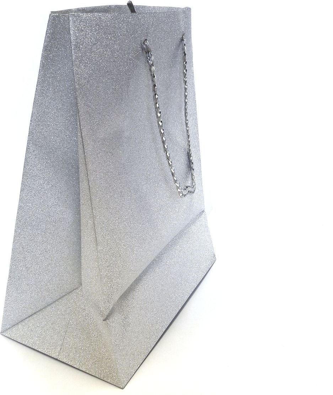 Пакет подарочный Яркий Праздник Однотонный, цвет: серебристый, 17,8 х 22,9 х 10,2 см пакет подарочный яркий праздник однотонный цвет розовый 17 8 х 22 9 х 10 2 см