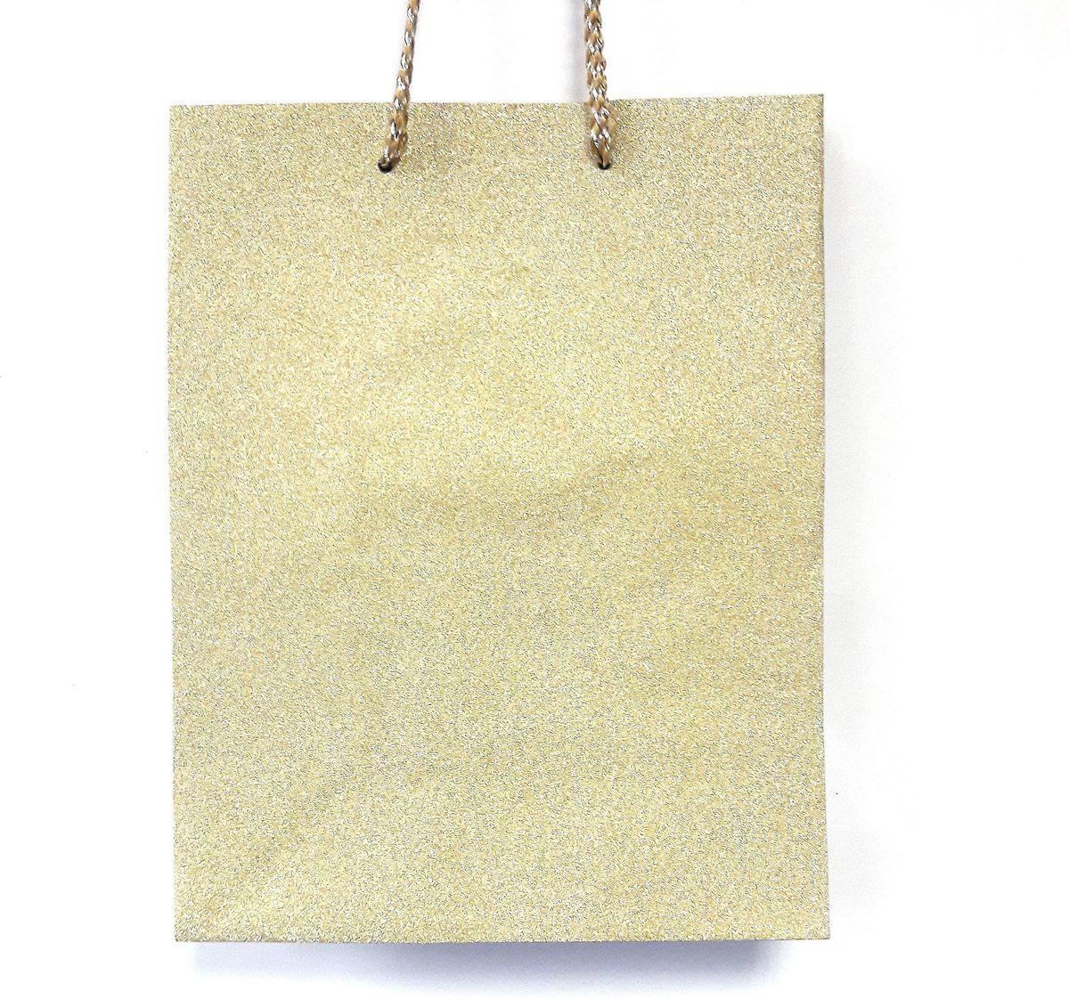 Пакет подарочный Яркий Праздник Однотонный, цвет: золотой, 17,8 х 22,9 х 10,2 см пакет подарочный яркий праздник однотонный цвет розовый 17 8 х 22 9 х 10 2 см