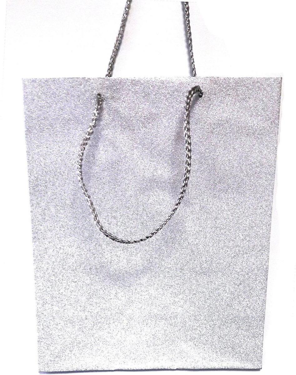 Пакет подарочный Яркий Праздник Однотонный, цвет: серебристый, 26 х 32 х 12,7 см пакет подарочный яркий праздник однотонный цвет розовый 17 8 х 22 9 х 10 2 см