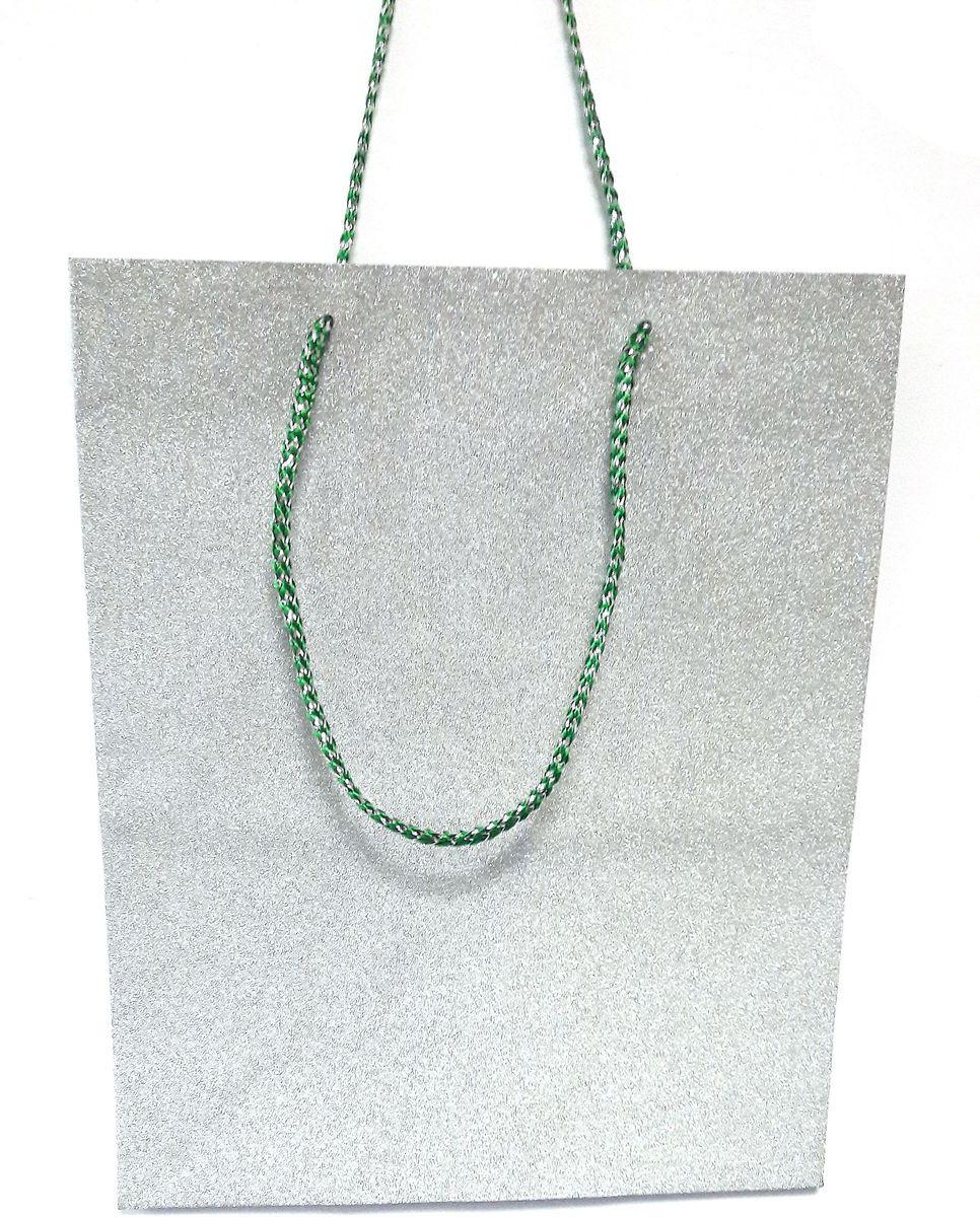 Пакет подарочный Яркий Праздник Однотонный, цвет: серый, 26 х 32 х 12,7 см пакет подарочный яркий праздник однотонный цвет розовый 17 8 х 22 9 х 10 2 см