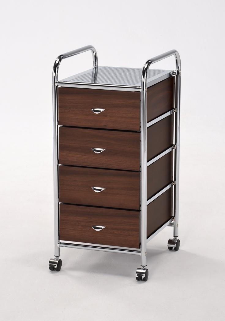 Этажерка My Space с 4-мя деревянными ящиками, Металл, Дерево этажерка с деревянными полочками pristin ws004