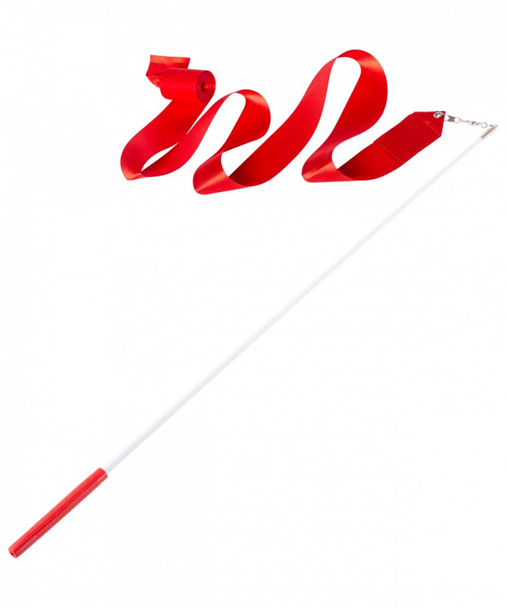 Лента для художественной гимнастики Amely AGR-201, УТ-00012836, 6 м, с палочкой 56 см, красный лента для художественной гимнастики amely agr 201 длина 6 м с палочкой 56 см цвет розовый