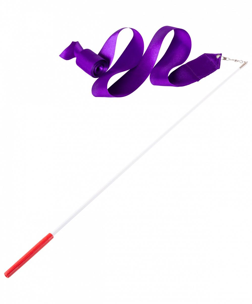 Лента для художественной гимнастики Amely AGR-201, УТ-00012841, 6 м, с палочкой 56 см, фиолетовый лента для художественной гимнастики amely agr 201 длина 6 м с палочкой 56 см цвет розовый
