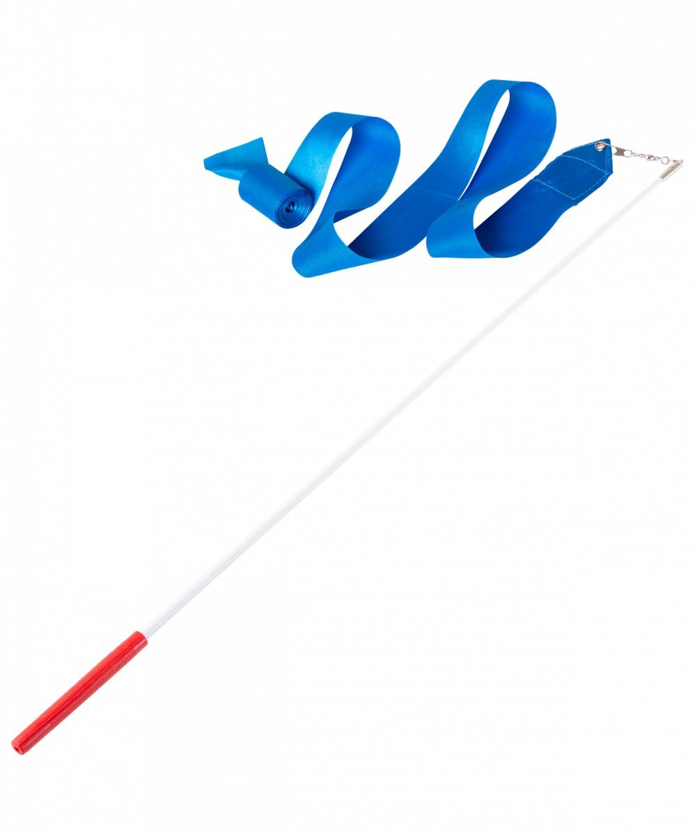 Лента для художественной гимнастики Amely AGR-201, УТ-00012823, 4 м, с палочкой 46 см, голубой лента для художественной гимнастики amely agr 201 длина 6 м с палочкой 56 см цвет розовый