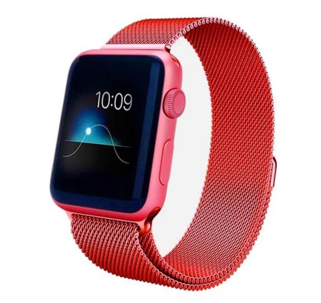 Ремешок для смарт-часов Markclub@Hoco Металлический ремешок, красный аксессуар ремешок gurdini sport silicone для apple watch 42mm dark teal 906173