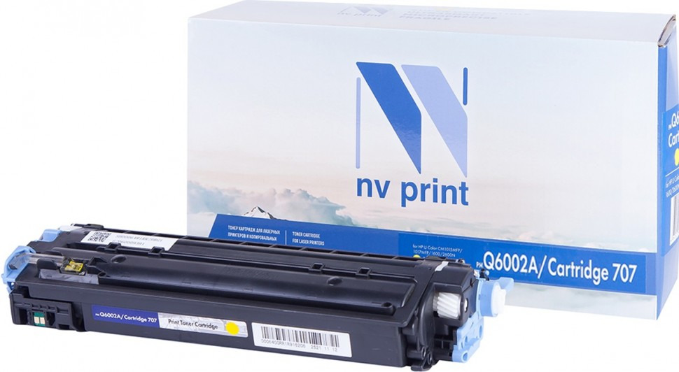 Тонер-картридж NV Print Q6002A/707PR, желтый, для лазерного принтера, совместимый