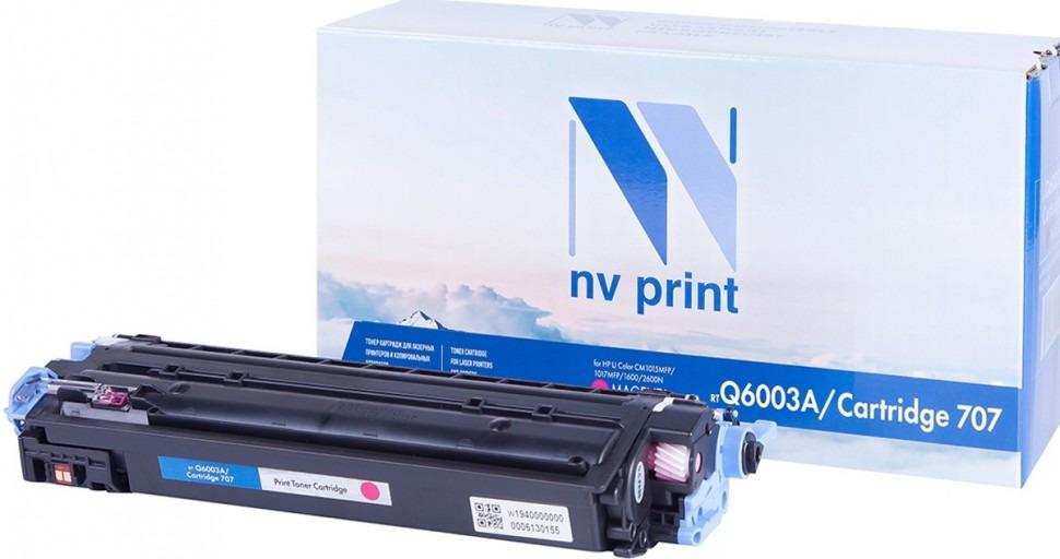 Картридж NV Print NV-Q6003A/707PR, пурпурный, для лазерного принтера картридж nv print cc533a canon 718 magenta для нewlett packard lj color cp2025 2800k
