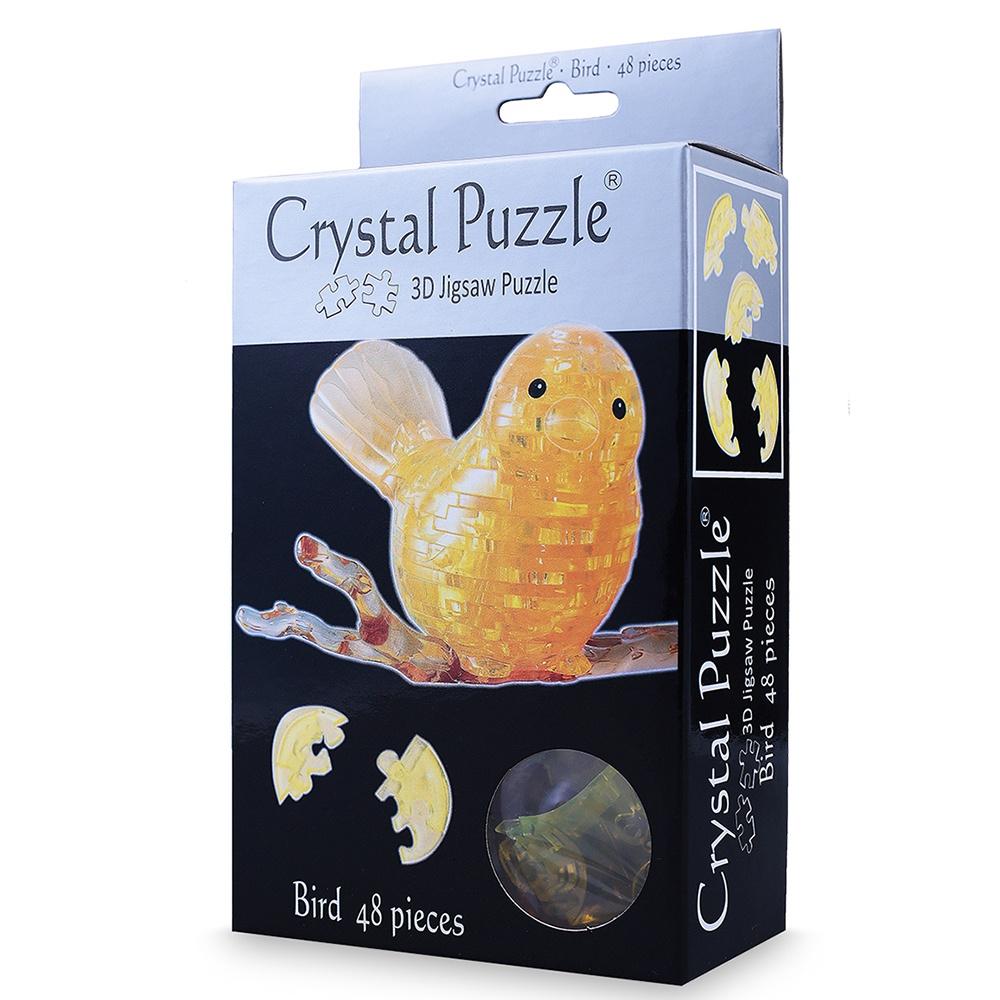 цена на Головоломка Crystal Puzzle ПТИЧКА, 90125 золотой